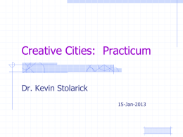 Creative Cities: Practicum - Martin Prosperity Institute