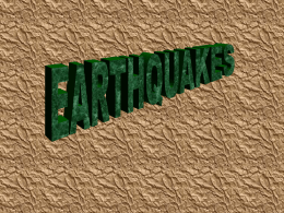 EARTHQUAKES - City University of New York