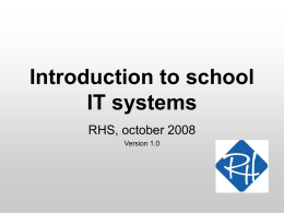 Introduction to school IT systems