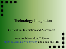PowerPoint Presentation - Technology Integration