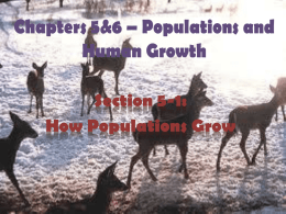 Chapter 5 – Populations