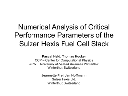 Numerical Analysis of Critical Performance Parameters of