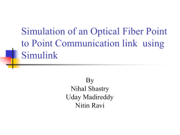 Simulation of an Optical Fiber Point to Point