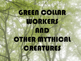 GREEN COLLAR WORKERS AND OTHER MYTHICAL CREATURES