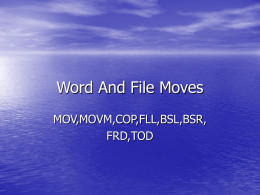 Word And File Moves - Richmond Community College