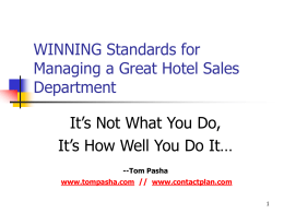 WINNING Standards for Managing a Great