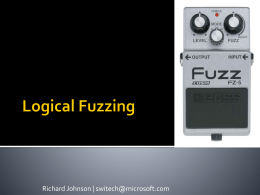 Logical Fuzzing