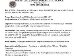 Title of Project: Comparison of Performance Based Design