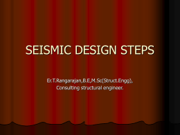 SEISMIC DESIGN STEPS - STRUCTURAL ENGINEERING FORUM …