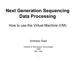 Next Generation Sequencing Data Processing How to