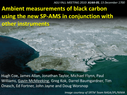 Ambient measurements of black carbon using the new SP