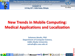 New Trends in Mobile Computing: Medical Applications and