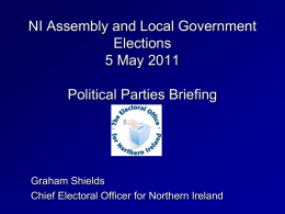 NOMINATIONS - Electoral Commission