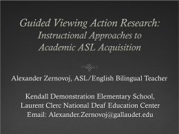 Guided Viewing Action Research: Instructional Approaches