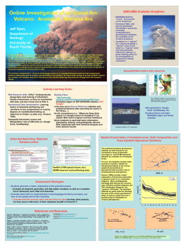 Online Investigation of an Island Arc Volcano: Anatahan
