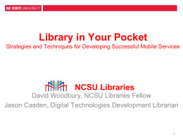 North Carolina State University Libraries Mobile