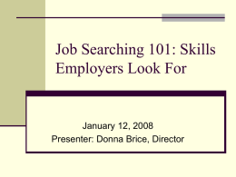 Job Searching 101: Computer Skills for Employment