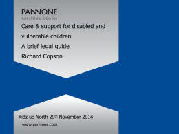 Care & support-A brief guide to the law