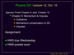 Physics 207: Lecture 2 Notes