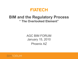 BIM and the Regulatory Process: The Overlooked Element