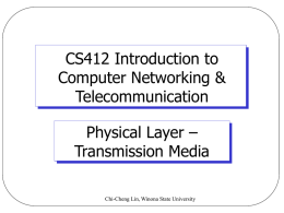 CS412 Computer Networks - Winona State University