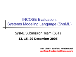 Systems Modeling Language (SysML)