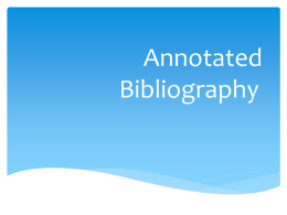 Annotated Bibliography - Chandler Unified School District
