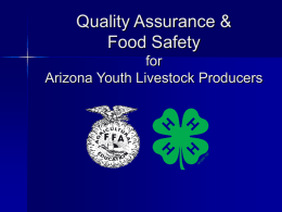 Pork Quality Assurance - University of Arizona