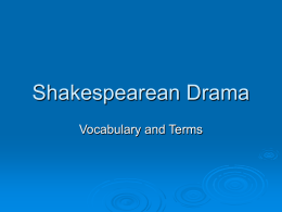 Shakespearean Drama - Tucson Unified School District