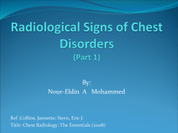 Radiological Signs of Chest Diseases