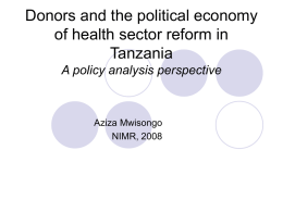 Implication of the political-economy dynamics on donor