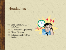 Headaches - Alabama Optometric Association