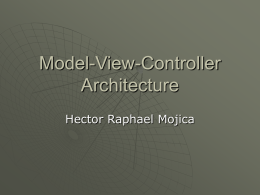 Model-View-Controller Architecture