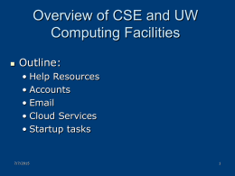 Computing Resources - University of Washington