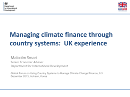 Managing climate finance through country systems: UK