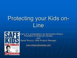 Protecting your Kids on-Line