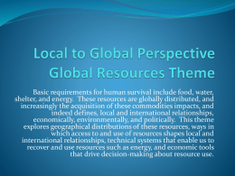 Local to Global Perspective Empire, Colonialism, and