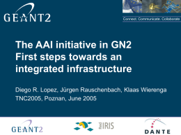 The AAI initiative in GN2 First steps towards an