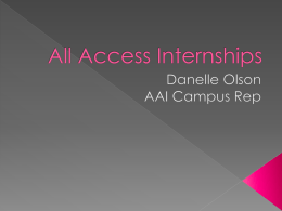 All Access Internships