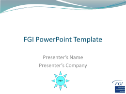 FGI PowerPoint Template - Fabricated Geomembrane Institute