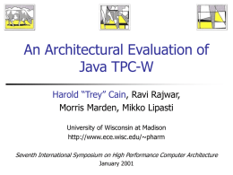 An Architectural Evaluation of Java TPC-W