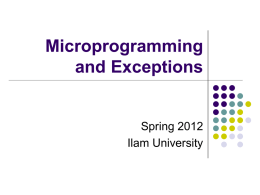 ECE/CS 552: Microprogramming and Exceptions