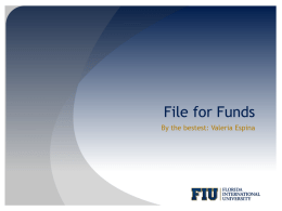 File for Funds - Student Government Association | FIU
