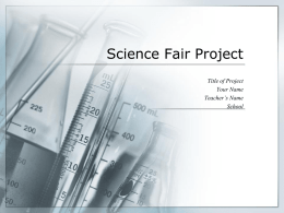 Science Fair Project - Goshen Elementary School