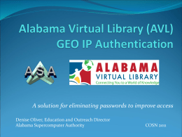 GEO IP Authentication - Alabama Virtual Library