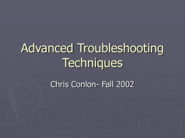 Advanced Troubleshooting Techniques