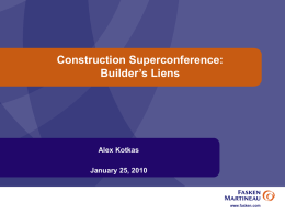 Construction Superconference: Minimizing Project Risks in