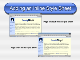 PowerPoint Presentation - Adding an Inline Style Sheet