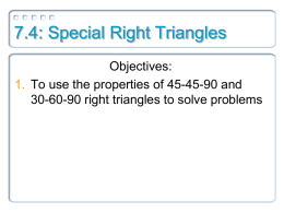 Two Special Right Triangle
