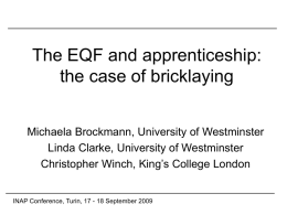 Apprenticeship in England: scope for expansion?